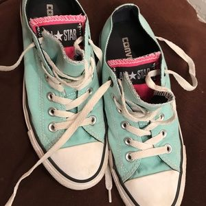 Converse - Light Teal Sneakers (Size 7)